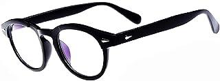 Lovelegis - Gafas Johnny Depp para hombre - mujer - moda - lentes transparentes - no graduadas - retro - estilo moscot - idea de regalo de cumpleaños