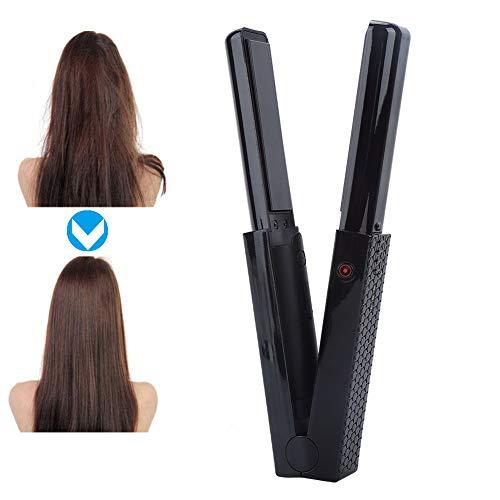 Draagbare stijltang met USB-aansluiting, voor op reis, professionele haarstyling-tool, instelbare temperatuur voor op reis, verschillende haartypes.