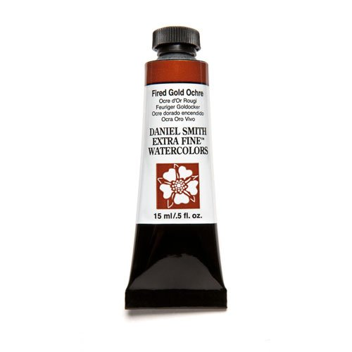 DANIEL SMITH Extra Fine Watercolor 15ml Paint Tube, Fired Gold Ochre