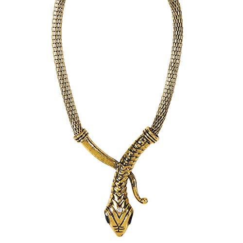 Widmann 11890 11890-Halskette Schlange, Gold, Schmuck, Kostümaccessoire, Mottoparty, Karneval, Damen, mehrfarbig, Taglia unica