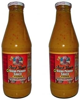Aunt Mays Bajan Pepper Sauce Hot 26 oz (Pack of 2)