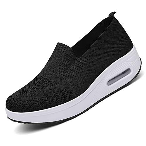 [ziitop]レディースダイエットシューズスリッポンスニーカー厚底5cmナースシューズ船型底レディースシューズウォーキングシューズ美脚軽量ローファー姿勢矯正看護師作業靴歩きやすい疲れない婦人靴厚底シューズ