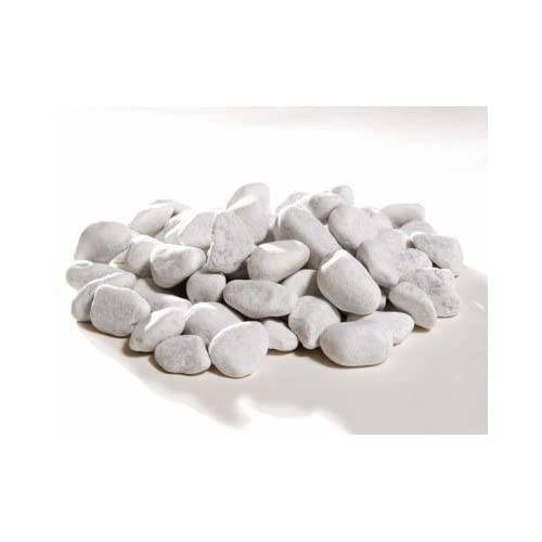 Lot de 10 galets pour décoration xXL cheminée bio-éthanol bio éthanol blanc 4-9 cm