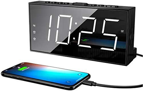 Loud LED Digital Alarm Clocks for Bedrooms Bedside with Snooze Digital Clock for Heavy Sleepers product image