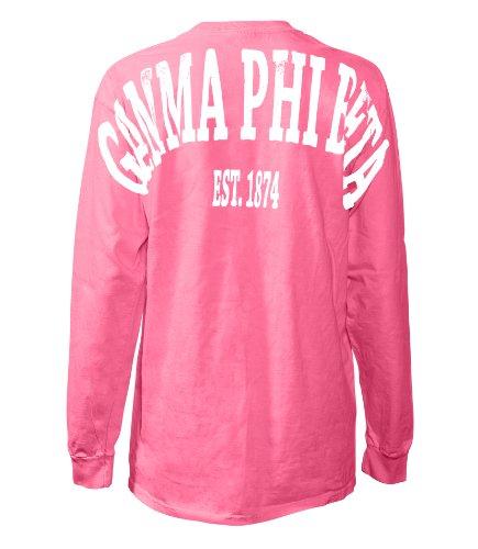 Fashion Greek Gamma Phi Beta Stadium Shirt Crunchberry Medium