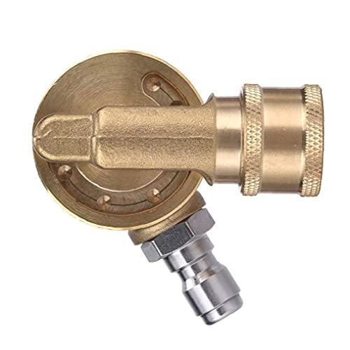 Sanfiyya pivotante acoplador Lavadora latón Conector con 1/4 Pulgada rápida de conexión para Limpieza en Zonas de difícil Acceso Amarillo