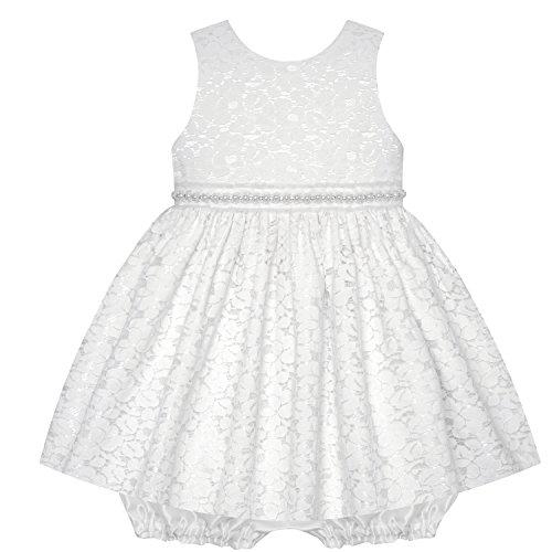 American Princess Traum Baby Mädchen Petticoat Kleid mit Spitze und Perlen inkl. Pump-Höschen Gr. 68,74,80 Größe 80