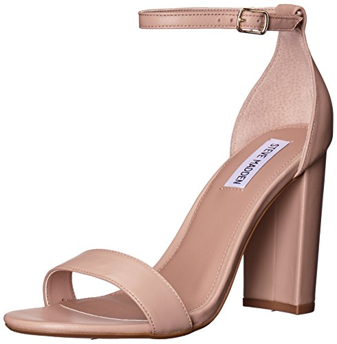 Steve Madden Women's Carrson Dress Sandal, Blush Leather, 7 M US