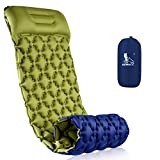 RUNACC Camping Sleeping Pad with Foot Pump Self-Inflating Camping Mat with Pillow Pad