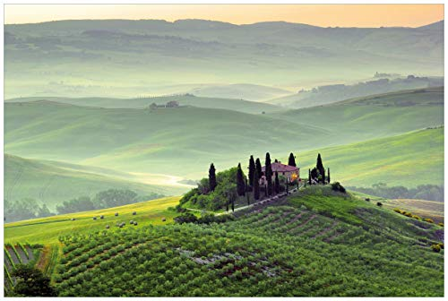Wallario Acrylglasbild Toskana in Italien - 60 x 90 cm in Premium-Qualität: Brillante Farben, freischwebende Optik