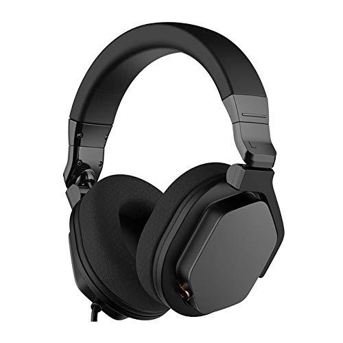 QNSQ Casque léger coloré RGB, monté sur la tête, Casque de Jeu Esports, Son Surround 7.1, Basses choquantes, avec Microphone antibruit-Black