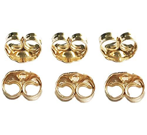 14K Yellow Gold Earring Backs Ear Locking (6 Piece)