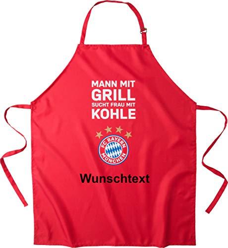FC Bayern München Grillschürze mit Ihrem persönlichen Wunschtext