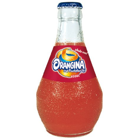 Orangina - Rouge natürliche Limonade mit feinem Fruchtfleisch - 0,25l, inkl. Pfand