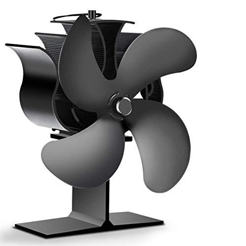 Heat Powered Stove Fan , EIVOTOR 4-Blade Auto-sensing Fireplace Fan