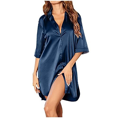 Mujer Invierno Sweatshirt Sudadera Capucha Casual Hoodie Tops Pijamas Caseros de Camisa Sexy Sedosa de Color Puro