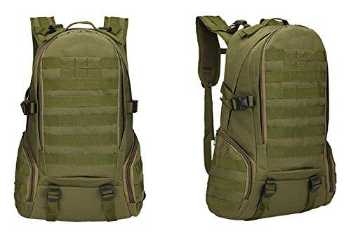 Greenpromise 40L 3P mochila táctica militar bolsa de camping ejército hombres táctico bolsas Molle ciclismo senderismo deportes al aire libre escalada mochila bolsas (verde ejército)