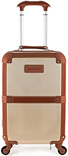 """Rockland Stage Coach 20"""" Rolling Trunk, Champagne (Beige) - F2291-CHAMPAGNE"""