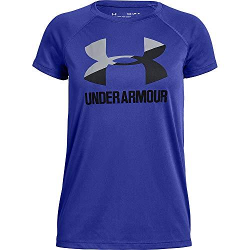 Under Armour Big Logo tee Solid SS Camiseta, Niñas, Rosa (Penta Pink/White/Black 975), XL