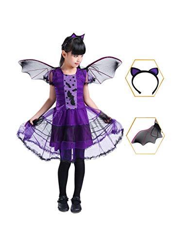 GBYAY Fantasía Niño Disfraz de Halloween Cosplay para niños Niñas Vestidos deBrujaRopa de niñosDisfraces de Brujas Bebé niña