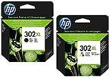 Cartouche d'encre d'imprimante d'origine HP F6U66AE HP 302 HP302 pour HP Deskjet 4650 Noir Capacité : env. 190 pages / 5% (10) 2x XL Tintenpatrone - Black + Color