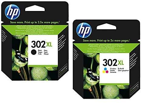 HP 302XL Doppelpack Original-Tintenpatronen mit hohem Ertrag, Schwarz und Farbe