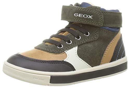 Geox Baby-Jungen B TROTTOLA Boy D Sneaker, (Forest/Black), 23 EU