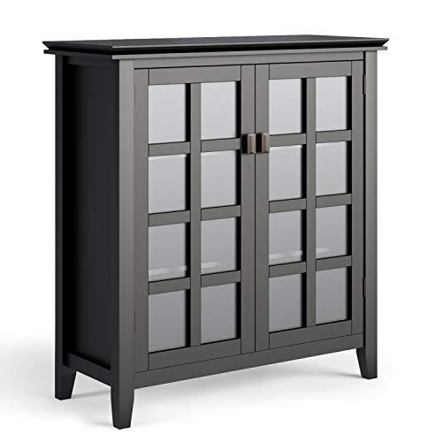 Simpli Home Artisan Medium Storage Cabinets, Black