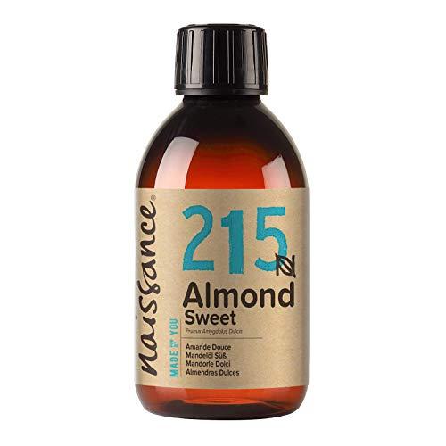Naissance Aceite de Almendras Dulces n. º 215 – 250ml - 100% natural para humectar y equilibrar la piel, hidratar el cabello y todo el cuerpo