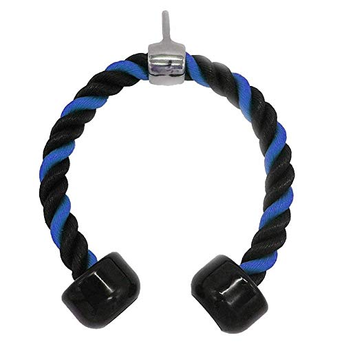 Hengyixing, Cable Rope Attachment Black and Blue Nylon Braided Tricep Rope Press...