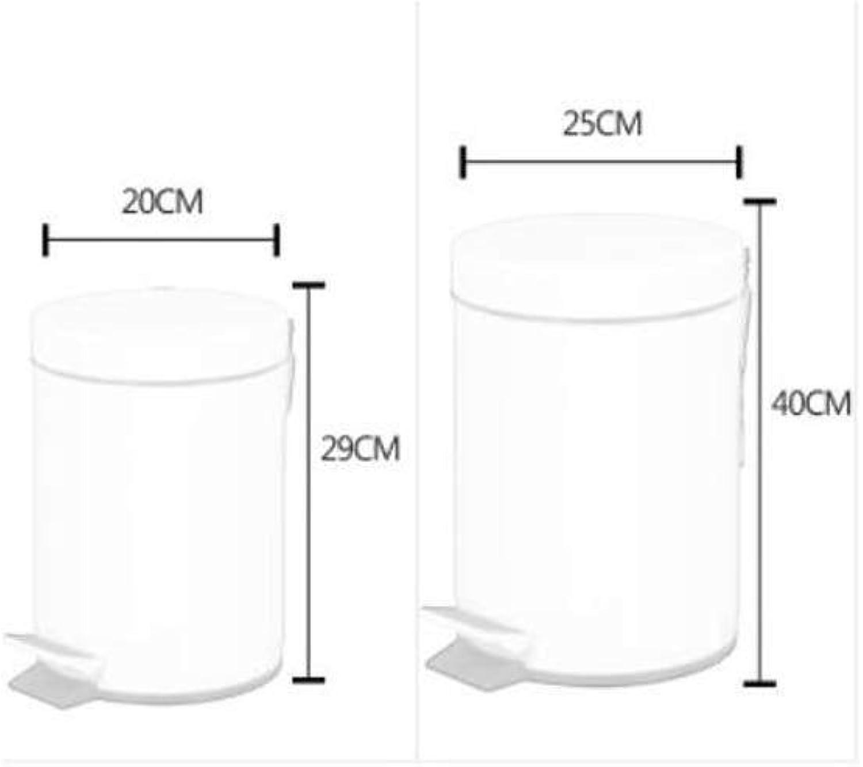 RMGAI Cubo de Basura Bote de Basura Europeo Creativo Moda Pastoral No Cubierto Hotel Cocina Cocina Bote de Basura Hogar Cubo de Almacenamiento Papelera de con (Talla   5L)