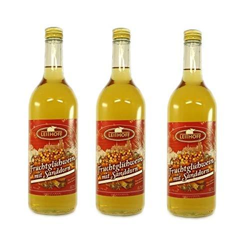 3 Flaschen Sanddorn Glühwein á 0,75l (9% vol.)