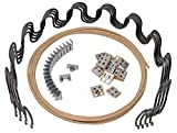 House2Home 25' Sofa Upholstery Spring Replacement Kit 4pk Springs, Clips, Wire for Furniture Chair Couch Repair, Includes Instructions