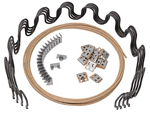 House2Home 27' Sofa Upholstery Spring Replacement Kit- 4pk Springs, Clips, Wire for Furniture Chair Couch Repair Includes Instructions
