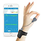 Moniteur d'oxygène du sommeil avec Alerte de vibration pour le ronflement et l'apnée, Oxymètre de pouls Bluetooth en française, Compagnon anti-ronflement pour machine CPAP