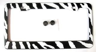 Zebra Print License Plate Frame (Made of Metal)