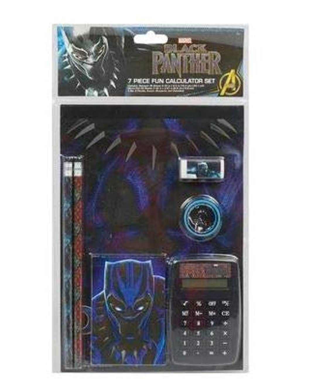 ボウリングファンド自治Black Panther 楽しい計算機7点セット