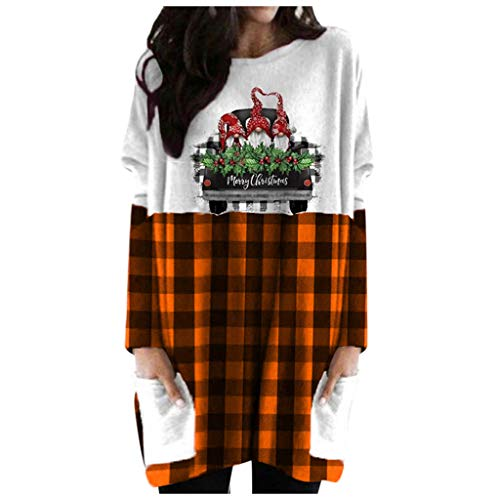 Preisvergleich Produktbild LOPILY Weihnachtsshirts Damen Übergröße Xmas Buchstaben Gedruckte Umstandskleider Oversized Locker Tunikakleider für Weihanchtsfeier Katzohren Kapuzenkleider für Schwangerschaft Winter (Rosa,  40)