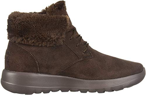 Skechers Damen On-the-go Joy Kurzschaft Stiefel, BraunBraun (Chocolate Suede/Trim Chocolate), 41 EU