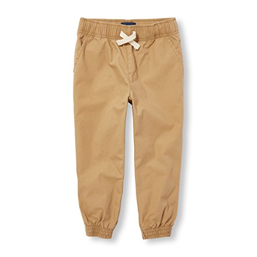 The Children's Place Big Boys' Basic Jogger, Flax, 14