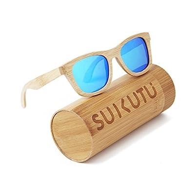 SUKUTU Bambus-Sonnenbrille leicht Holz
