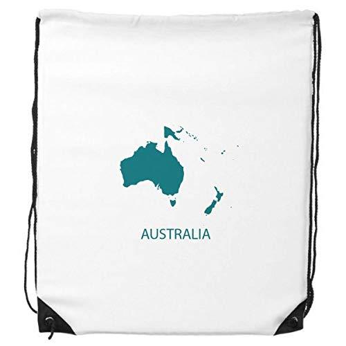 DIYthinker Australien Ozeanien Kontinent Silhouette Karte Rucksack-Shopping Sport Taschen Geschenk