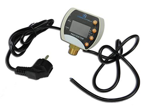 Pumpensteuerung Druckschalter Trockenlaufschutz für Hauswasserwerk 10 bar Stecker Druckwächter