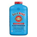 Gold Bond Maximum Strength Foot Powder, 10 Ounce, Multicolor