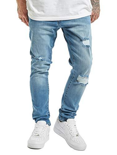 2Y Herren Slim Fit Jeans Cam blau W 30
