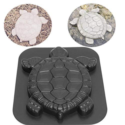 PiniceCore Mold Beton Turtle Weg-Sprungbrett aus Kunststoff Zement manuell Pflaster Moulds Straße Werkzeugbau für Höfe Garten