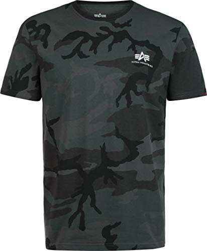 Alpha Industries Basic T Small Logo T-Shirt Dunkles Camouflage S