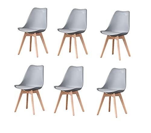 Sillas De Comedor Blancas Y Gris sillas de comedor blancas  Marca MeillAcc