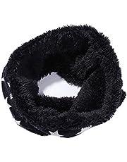 ZUMUii Butterme Forro Polar de Felpa Unisex de Invierno Forro Polar Pañuelo de Cuello Estrella Bufanda de Cuello Estampado