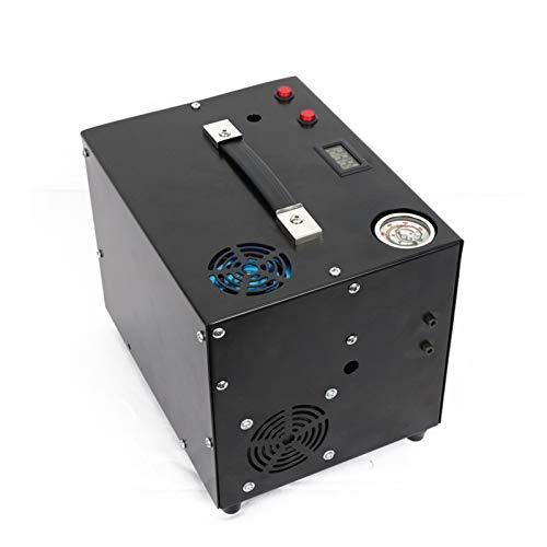 cjcaijun Válvula 4500PSI PCP COMPRESOR DE Aire Bomba de Alta presión 12V Bomba portátil Bomba eléctrica para Rifle de Aire Inflador Tanque 300BAR 30MPA (Color : 220V, Voltage : General Version)